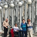 Irwin, Harriet, Adele, and Norma taking the requisite LACMA lamps photo!