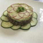 Tuna tartare with an avocado citrus mousse