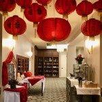 Our Chinese lanterns set of the entrance and exit of the dining room beautifully!