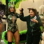 Mardi Gras Dancer and Maguy dancing the afternoon away!