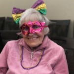 Guess who's ready for Mardi Gras - Phyllis!